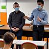 Deux anciens élèves de l'établissement sont venus partager leur parcours scolaire et professionnel. DR